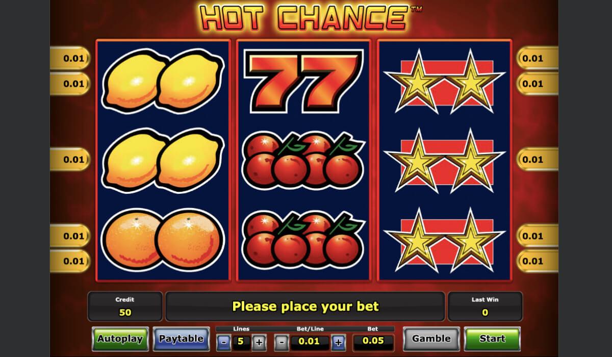 Классический игровой автомат Hot Chance